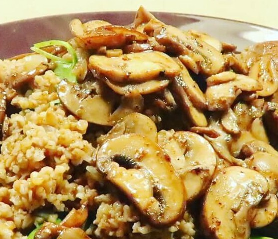 FREEKEH RISOTTO MET CHAMPIGNONS